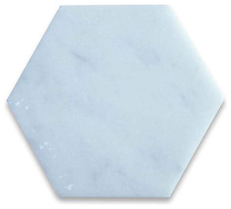 carrara white marble hexagon tile 6 inch honed italian
