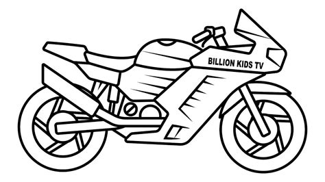 Drawing Sport Bike Coloring For Kids