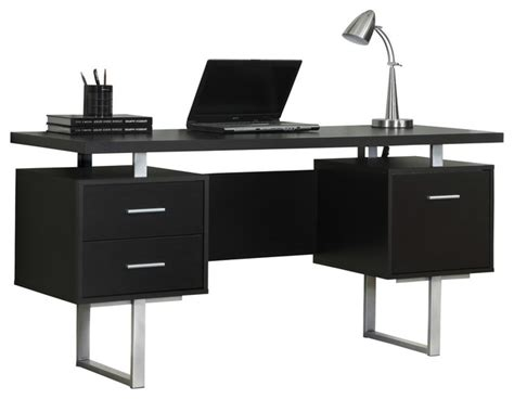 Monarch Specialties Corner Desk With Hutch by Monarch Specialties Computer Desk 60 Quot Cappuccino Silver
