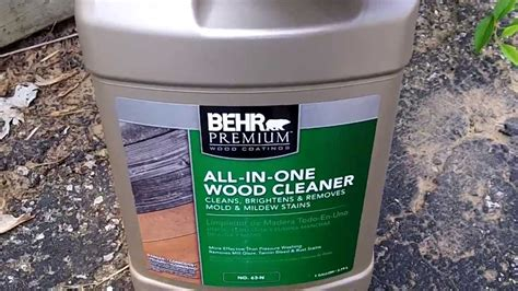 behr all in one wood cleaner 64 n review and how to use