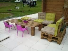 salon de jardin en palettes jardins meubles et jardins