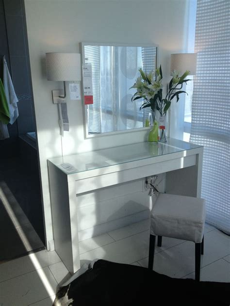 malm vanity table ikea makeup vanity ideas lighted mirror manicures and vanities