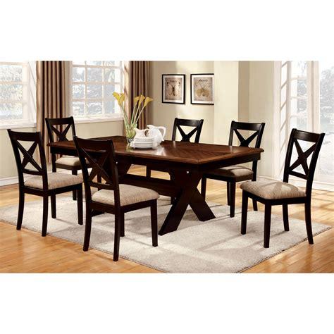 Furniture Of America Cresanka 7piece Dark Oak And Black
