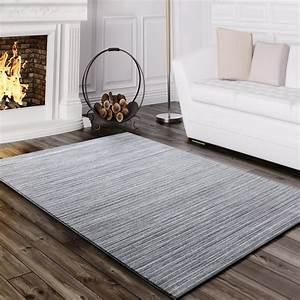 Teppich Wohnzimmer Grau : teppich wohnzimmer modern glitzergarn gestreift linien kurzflor meliert grau teppiche kurzflor ~ Markanthonyermac.com Haus und Dekorationen
