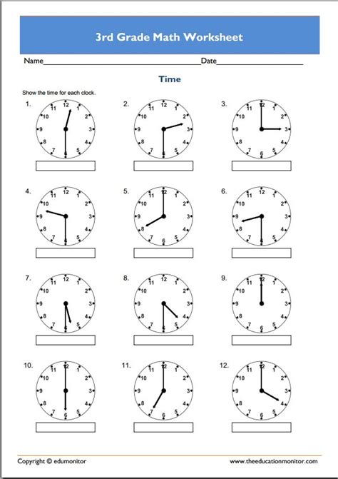 3rd Grade Math Worksheets To Print Beginners 3rd Best Free Printable Worksheets