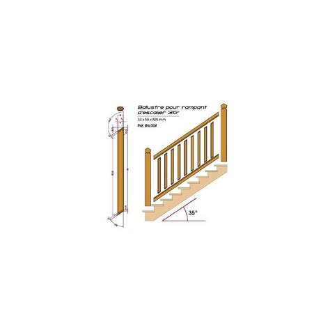 balustre pour rant d escalier en pin garde corps en bois deck linea