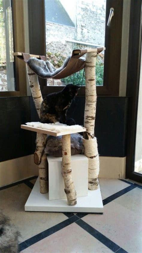 arbre a chat fait maison en bouleau et mdf brico