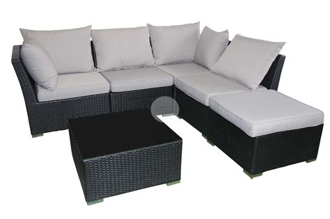 outdoor sofa lounge with chaise coffee table rattan