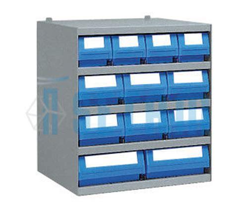 casier rangement atelier avec 12 bacs tiroirs plastique p 40 cm