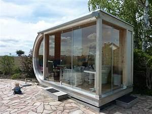 Gartenhaus Modernes Design : kleines rundes design gartenhaus bei freiburg werner ettwein gmbh ~ Markanthonyermac.com Haus und Dekorationen