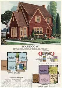 1927 goodrich revival cottage william a cottage house plans photos