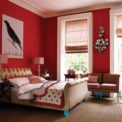 Attractive Red Accents Wall Color Of Girl Bedroom Design