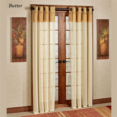 geneva semi sheer grommet curtain panels