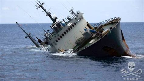 Pictures Of Sinking Boats by Sea Shepherd Rescues Crew Of Sinking Pirate Fishing Ship