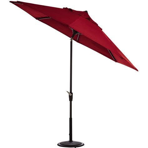 home decorators collection 9 ft auto tilt patio umbrella in sunbrella with black frame