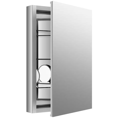 shop kohler verdera 20 in x 30 in rectangle surface recessed mirrored aluminum medicine cabinet