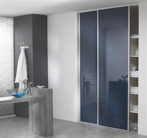 armoire salle de bain porte coulissante