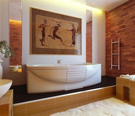 d 233 coration salle de bain romaine