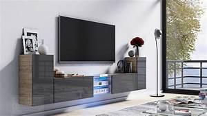 Tv Lowboard Grau : kaufexpert tv lowboard galaxy grau hochglanz sonoma mdf design board hifi tisch beleuchtung ~ Markanthonyermac.com Haus und Dekorationen