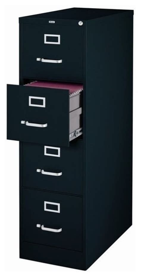 hirsh industries 4 drawer letter file cabinet in black