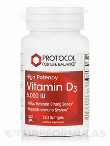 Vitamin D3 5,000 IU (High Potency) - 120 Softgels