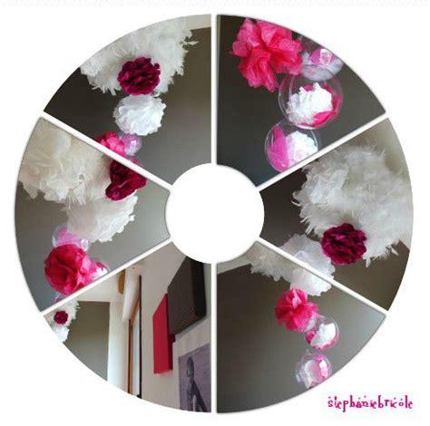 tuto diy id 233 e d 233 co originale avec des plumes et des grosses fleurs en papier cr 233 pon ou en