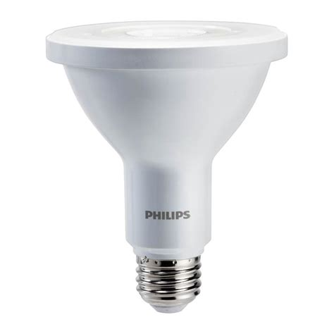 philips 75w equivalent daylight par30l indoor outdoor led light bulb 4 pack 463497 the home