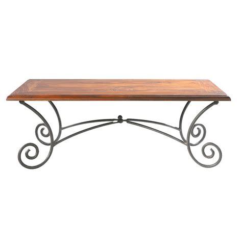 table basse en bois de sheesham massif et fer forg 233 l 120 cm luberon maisons du monde