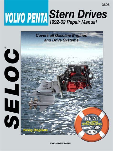 Boat Stern Repair by Volvo Penta Stern Drive 1992 2002 Service Repair Manuals