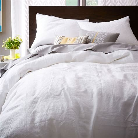 Belgian Flax Linen Duvet Cover + Pillowcases White
