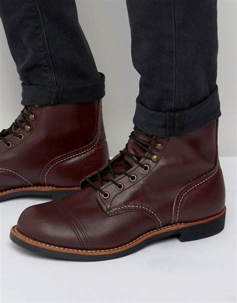 wing wing iron ranger leather boots
