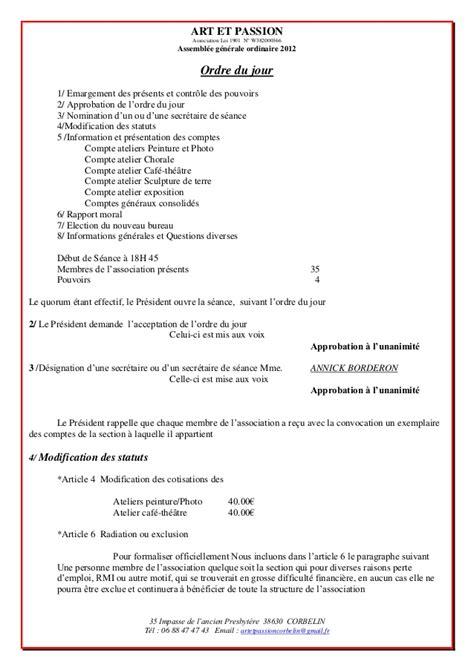 rapport et 2012