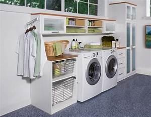 Regal Für Waschmaschine : waschk che einrichten m bel waschmaschine trockner schrank regal w schekeller pinterest ~ Markanthonyermac.com Haus und Dekorationen