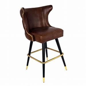 Vintage Stuhl Leder : barhocker tullamore leder vintage cigar hocker bar stuhl lehnenhocker tresenhocker kaufen bei ~ Markanthonyermac.com Haus und Dekorationen