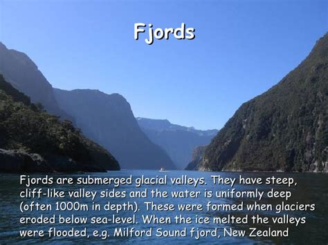 Fjord Glacier Definition by Sea Level Change As