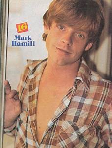 MARK HAMILL pinup - Cute boy with open plaid shirt! THE ...