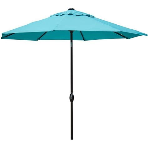 9 ft outdoor patio market table umbrella with push button tilt and crank ebay