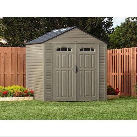 rubbermaid roughneck xl 7 x7 325 cu ft outdoor storage