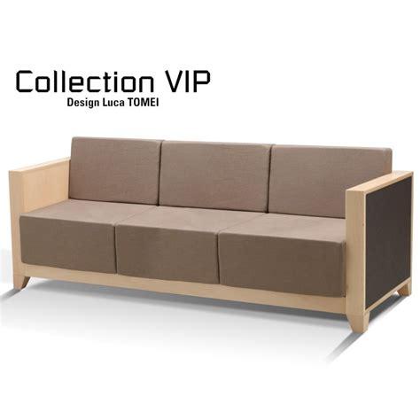 canap 233 3 places pour salle d attente ou salon vip club structure bois assise garnie habillage