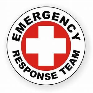 Emergency Response Team Hard Hat Decal / Label / Helmet ...