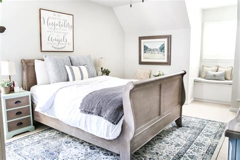 Blue Cottage Style Guest Bedroom Makeover Reveal-bless