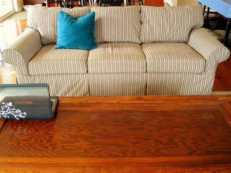 ethan allen sofa with custom slipcover it