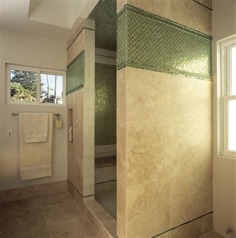 travertine shower with oceanside glass yelp