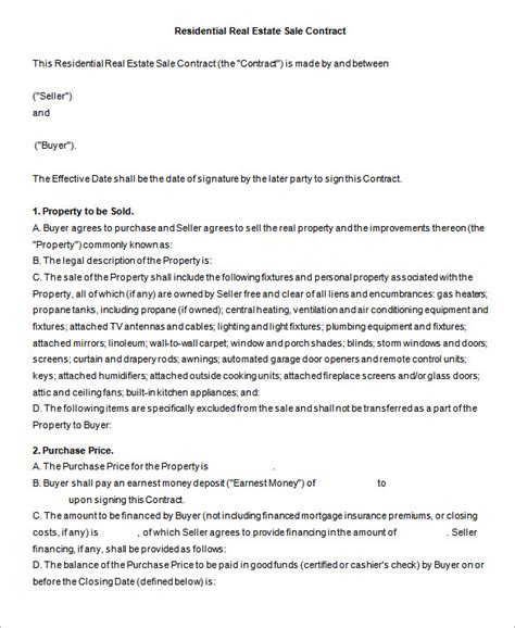 business sale contract free template vic 6 real estate contract templates pdf doc free