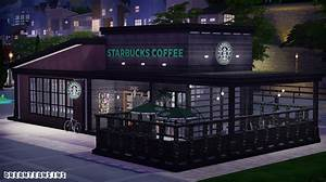 Starbucks Coffee Shop Lot (Furnished) | dreamteamsims