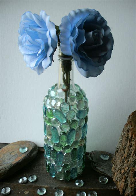 diy upcycle wine bottle into decorative vase hip earth designs