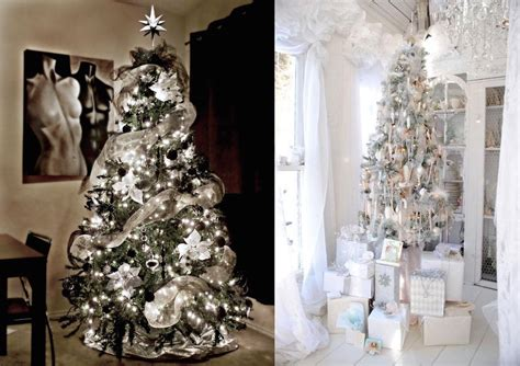 29 Inspiring Silver And White Christmas Tree Decorations