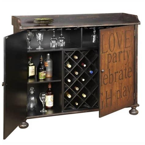 pulaski accents artistic expressions wine cabinet in