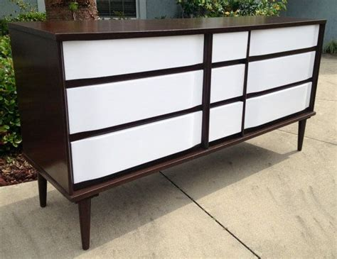 Refinished Mid Century Modern Solid Wood