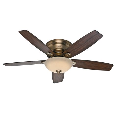 Low Profile Ceiling Fan by Shop Low Profile Iv 52 In Brushed Bronze Flush